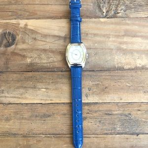 Blue Leather and Mother of Pearl Gossip watch.